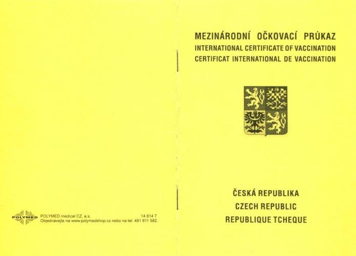 Mezinárodní očkovací průkaz - Středisko očkování a cestovního lékařství